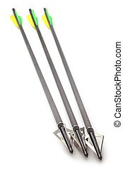 Arrows with hunting broadhead for compound bow and crossbow