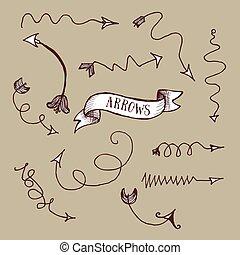 Arrows with swirls