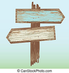 Arrows Wooden Sign