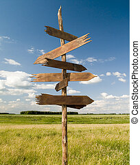 Arrows3 - The index of directions on a background of the...