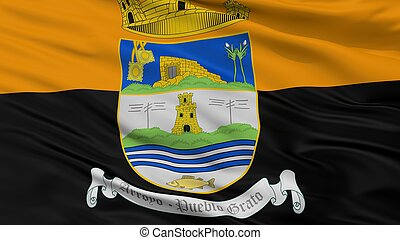 Arroyo City Flag, Puerto Rico, Closeup View - Arroyo City ...