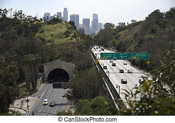 Arroyo Seco Parkway Stock Photo - Hhistoric Arroyo Seco ...