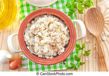 arroz, con, vegetales