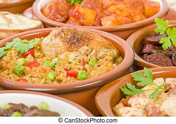 arroz, duper,  pollo