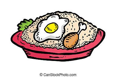arroz, frito