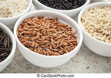arroz marrom, grão