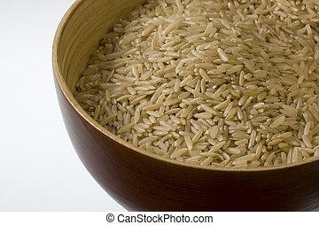 arroz marrom, longo
