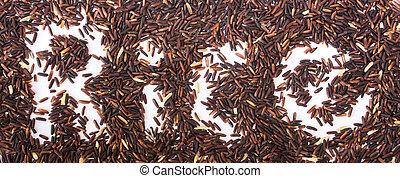 arroz, pretas, chão