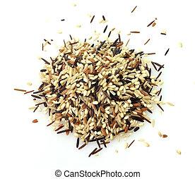 arroz salvaje, mezcla