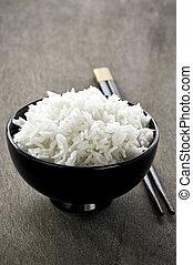 arroz, tigela pauzinho chineses