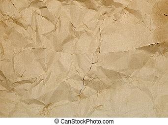 arrugado, antiguo, papel