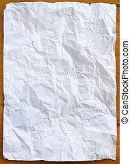 arrugado, imagen, papel, -, acción