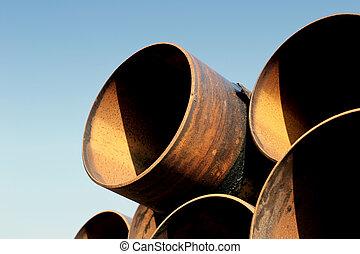arrugginimento, acciaio, tubi per condutture