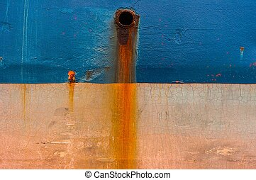 Arrugginito, petroliera, rubare, barca, struttura