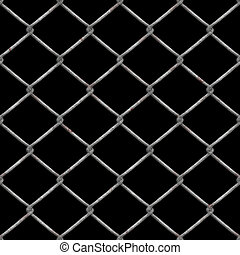 arrugginito, recinzione chainlink