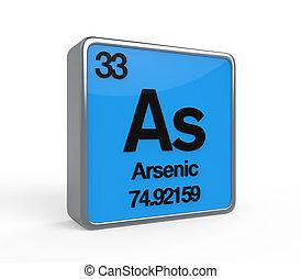 Arsenic Element Periodic Table isolated on white background....