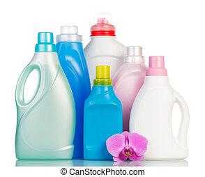 artículos, diferente, pila, limpieza