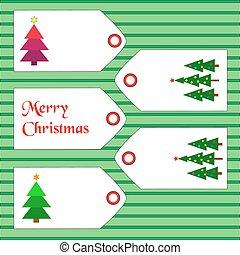 artículos, navidad, etiquetas