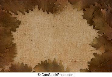 artístico, fondo marrón