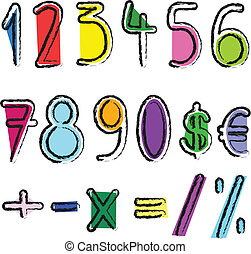 artístico, números