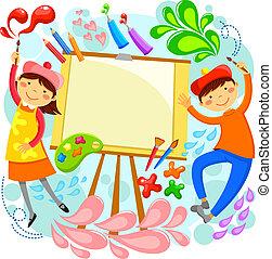 artístico, niños