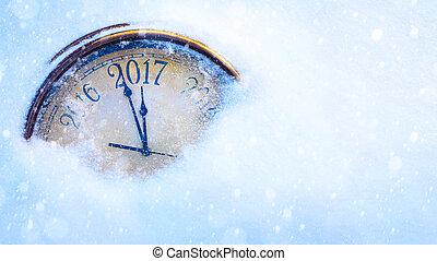 art, 2017, heureux, nouvelles années veille, fond