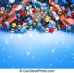 art a blue Christmas greeting card
