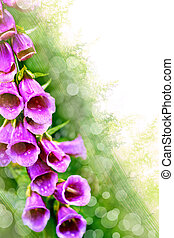 Art abstract background with spring floral motive