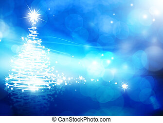 art abstract christmas blue background