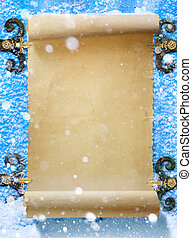 Art abstract Christmas Snow fantasy background