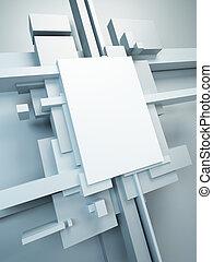 art abstrait, composition