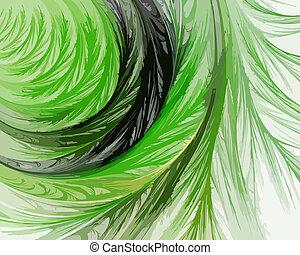 art abstrait, fond, spirale, système, .