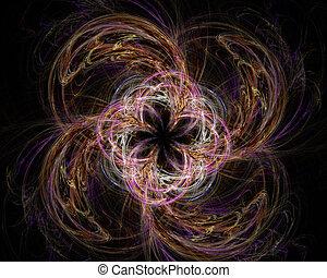 art abstrait, tournoiement, objet, fractal, fleur