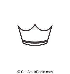 art, agrafe, couronne, isolé, vecteur, conception