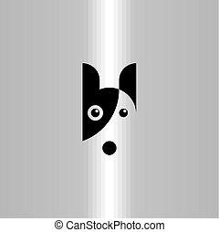 art, agrafe, symbole, chien, vecteur, logo, icône