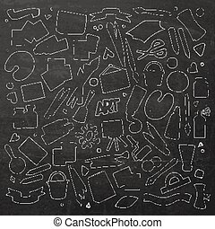 Art and craft vector symbols and objects - Art and craft...