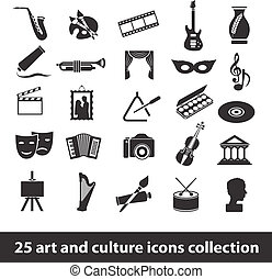 art and culture icons - 25 art and culture icon collection