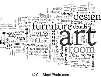 Art and Design text background wordcloud concept