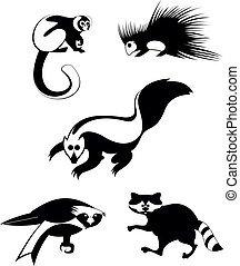 art animal silhouettes