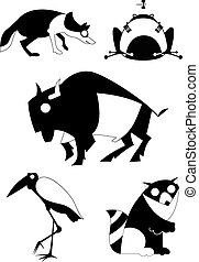 Art animal silhouettes