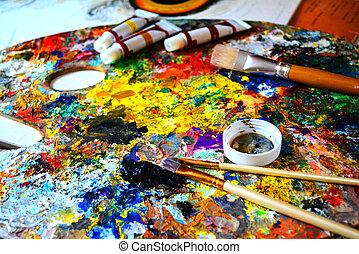 art, artist's tools