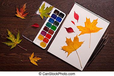 Art autumn concept