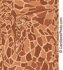 Art Background with Giraffe