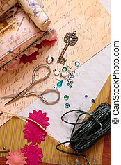 Art background  with scrapbooking elements