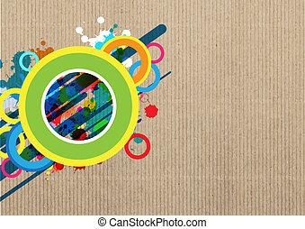 art banner layout design