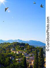 Art beautiful landscape in Provence