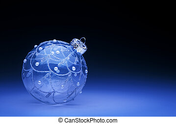 art blue Christmas ball