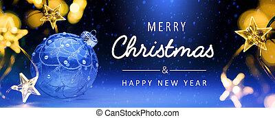 art Blue Christmas Holidays banner background