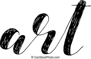 Art. Brush lettering illustration.