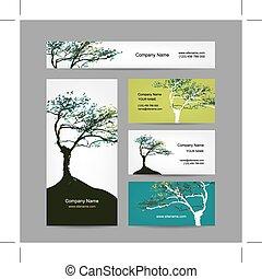 art, business, collection, arbre, conception, cartes